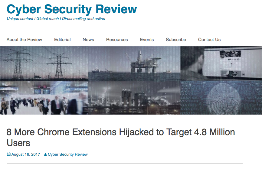 Chrome Extensions Hijacked to Target 4.8 Million Users