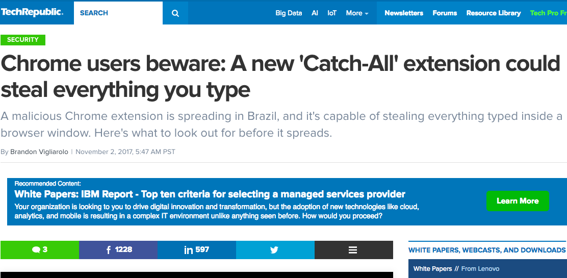 A new 'Catch-All' extension could steal everything you type
