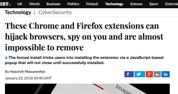 Chrome extensions can hijack browsers, spy on you and are almost impossible to remove