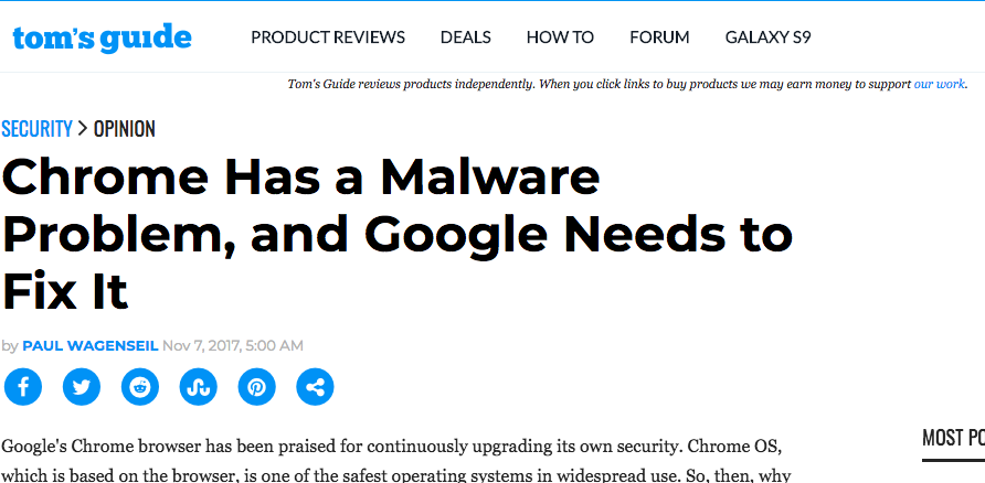 Chrome Has a Malware Problem, and Google Needs to Fix It